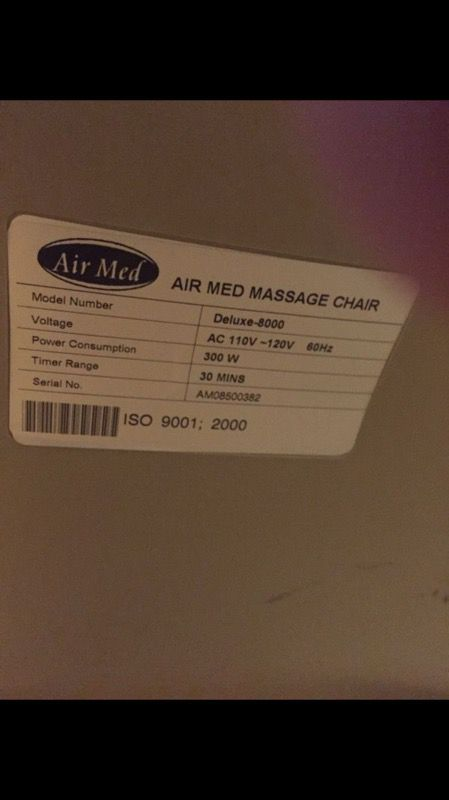 Massage Chair Air Med Model Deluxe 8000 For Sale In Los Angeles Ca Offerup