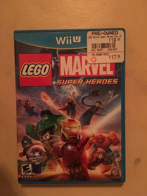 Nintendo Wii U LEGO marvel super heroes for Sale in Visalia, CA