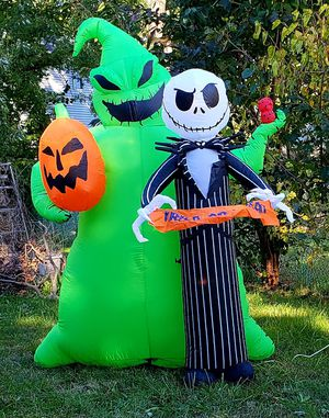 Inflatable Oogie Boogie and Jack Skellington Halloween decoration for Sale in Edison, NJ