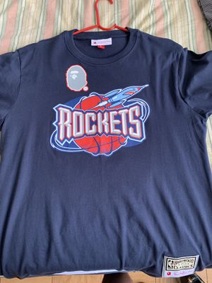 Bape Mitchell Ness Rockets Tee size Large Supreme Kith for Sale in Washington, DC