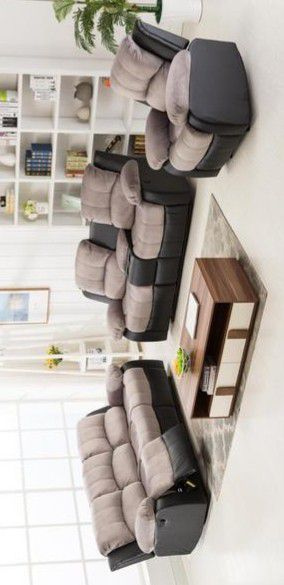 Negro reclinado Camilla gris / de sala de estar for Sale in Pflugerville, TX
