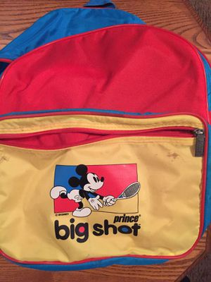 Mickey Mouse Prince Big Shot tennis backpack for Sale in Severna Park, MD