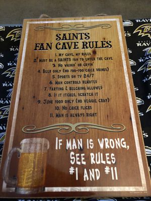 New NFL New Orleans Saints Fan Cave Rules Plaque - NWT for Sale in Fort Washington, MD