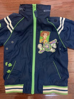 Kids Size 4/5T Toy Story Jacket with Pop out Hood for Sale in Middletown, DE