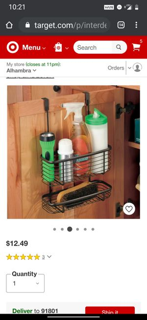 Over cabinet organizer for Sale in Los Angeles, CA
