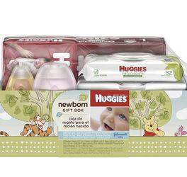 Huggies Newborn Gift Box - Little Snugglers Diapers (Size Newborn 24 Ct & Size 1 32 Ct), Natural Care Unscented Baby Wipes (96 Ct Total), and Johnson' for Sale in Los Angeles,  CA
