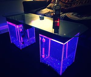 Fish Tank Coffee Tables/End Tables/Nightstand Aquariums - Wooden/Glass Furniture Filter, Decor, 4 Couch,Sofa,Rug,Carpet,Desk,Bed,Lamp,Chair-Custom for Sale in Arlington, VA