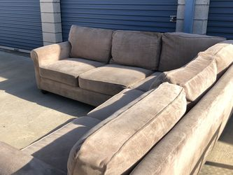 Ashley's Beige Sectional Couch With Delivery for Sale in Riverside,  CA