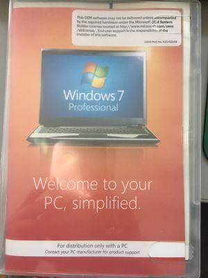 Microsoft Windows 7 PRO PROFESSIONAL 32Bit OEM FULL VERSION WITH KEY for Sale in San Jose, CA