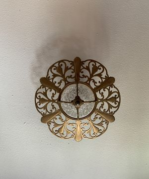 Vintage/Antique Cast Iron and Glass Light Fixture for Sale in Denver, CO