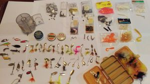 Large assortment of fishing lures for Sale in St. Louis, MO