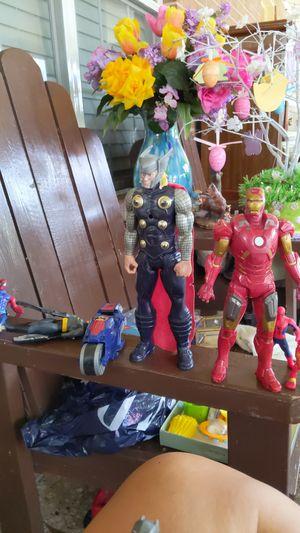 Action Figures: Thor, Iron Man, Batman, Spider-Man for Sale in Pasadena, TX