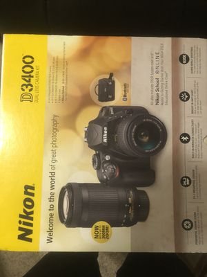 Nikon D3400 Camera Kit W/Free 64GB Memory Card and Bag for Sale in Windermere, FL