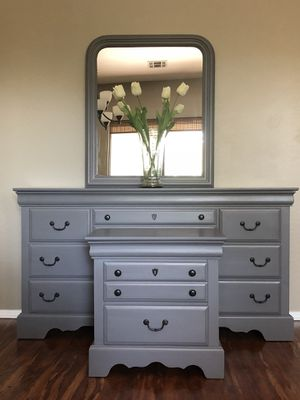 Refinished restyled dresser mirror nightstand for Sale in Glendale, AZ