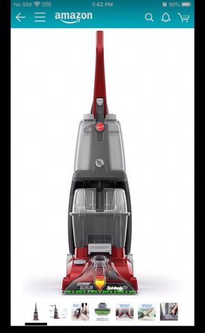 Hoover Power Scrub Deluxe Carpet Cleaner Machine, Upright Shampooer, FH50150, Red for Sale in Huntington Beach, CA
