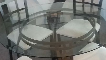 Glass Table With 4 Chairs for Sale in Puyallup,  WA