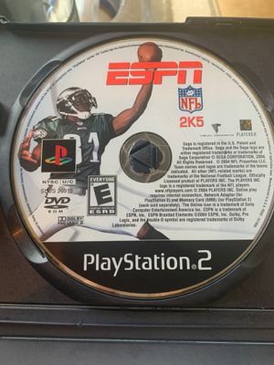 PS2 ESPN NFL 2K5 for Sale in Winter Haven, FL