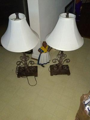 "2 heavy metal table lamps 28"" for Sale in Alexandria, VA"