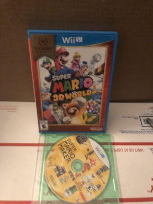 Nintendo Wii U Super Mario 3D World & Super Mario Maker EXCELLENT CONDITION for Sale in Bakersfield, CA