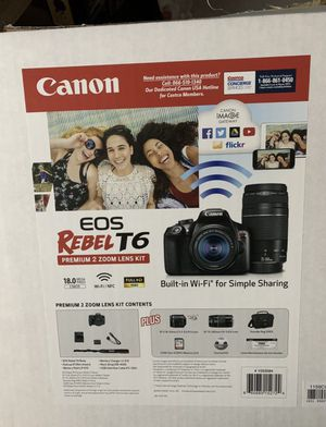 Canon EOS Rebel T6 Costco Deal for Sale in Homeland, CA