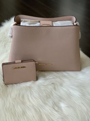 Michael Kors Sofia Large Leather Satchel w/ Wallet for Sale in Falls Church, VA