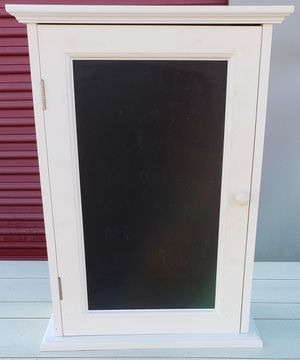 Wood Wall Cabinet w/ Chalkboard front for Sale in Lorain, OH