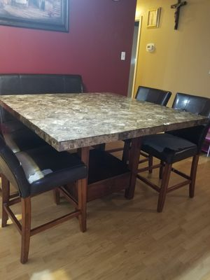 Large Marble Top dining table for Sale in San Angelo, TX