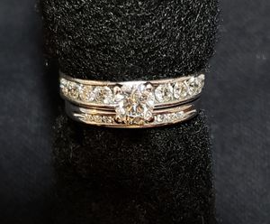 Diamond Wedding Ring set in 14kt white gold for Sale in O'Fallon, MO