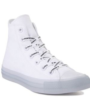 Converse Chuck Taylor All Star Hi Sneaker - White / Clear size 6.5 in men's brand new bought for 80 selling for 65 for Sale in Hayward, CA