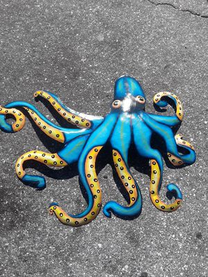 Large colorful metal octopus wall art for Sale in Dunedin, FL