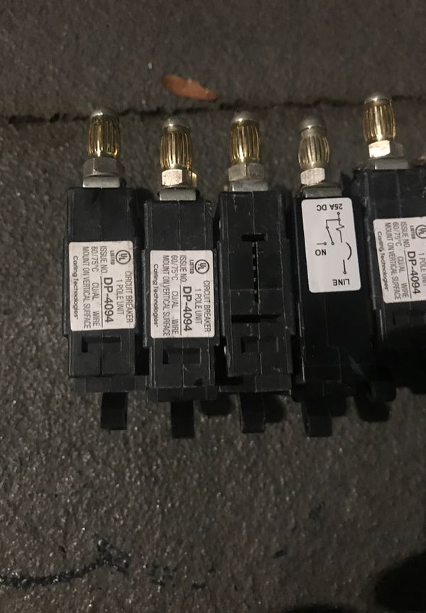 Dp-4094 circuit breaker 8 of them 25 dollars each or make me a offer for all.