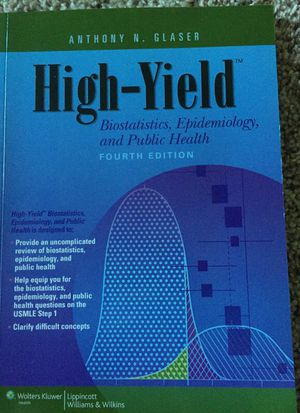 USMLE step 1 high yield statistics and epidemiology for Sale in Houston, TX