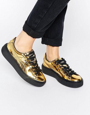 Women Puma gold platforms size 6.5 for Sale in Cleveland, OH