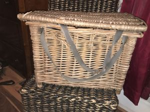 Old wicker or wooden basket. Very nice for decor. for Sale in AR, US