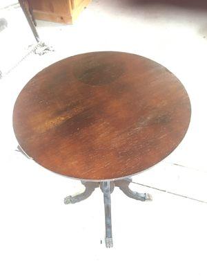 Antique table 22 inches tall 20 diameter $35 for Sale in Pico Rivera, CA