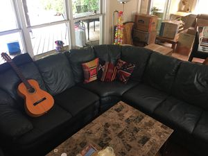 Sectional Italian leather couch for Sale in Old Bethpage, NY