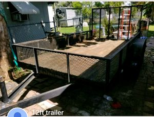 12ft by 3ft trailer with rail $1500 for Sale in Ruskin, FL