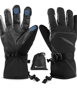 Ski & Snowboard Gloves with Wrist Leashes, Waterproof & Windproof Gloves for Skiing, Snowboarding, Shoveling for Sale in Rancho Cucamonga,  CA