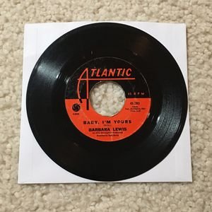 "Barbara Lewis ""Baby I'm Yours"" vinyl 7"" single 1965 Atlantic Records nice player copy R&B for Sale in Laguna Beach, CA"