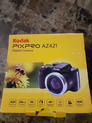 Used only 2 times....practically brand New...KODAK PIXPRO...AZ421...***NO MEMORY CARD OR CHARGER*** but it uses any ANDROID charger to charge for Sale in Dallas, TX