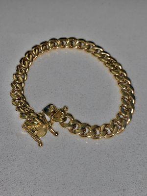 10k Solid Cuban Link Bracelet w. Solid Box Lock *10k (30g/19.2dwt)(8mm x 8in) ; Se Habla Español * for Sale in Fort Lauderdale, FL