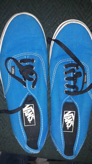 Size 8 men's size 9 and 1/2 women's Vans brand new turquoise for Sale in Billings, MT