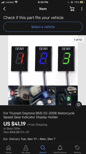 Gear indicator for Daytona motorcycle for Sale in Anaheim, CA