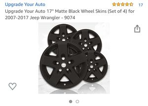 Black Jeep sport rim caps for Sale in Columbus, OH