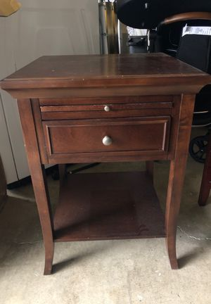 Wood bedside table for Sale in Lake Oswego, OR
