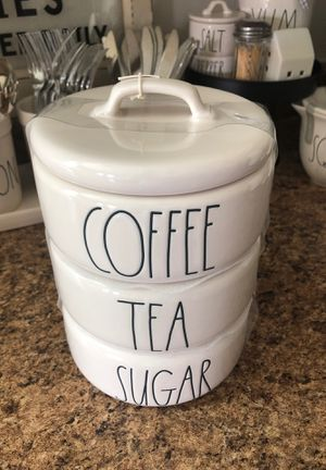 New! Rae Dunn coffee/tea/sugar canister UFT/UFS for Sale in Riverside, CA