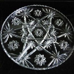 Antique Pressed Glass Star Of David Serving Platter for Sale in FL, US