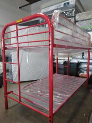 BUNK BED TWIN/TWIN NO MATTRESS, LITERA TWIN TWIN, for Sale in Phoenix, AZ