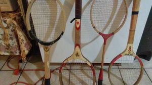 Pro 100, red ribbon, old style tennis rackets for Sale in Revere, MA