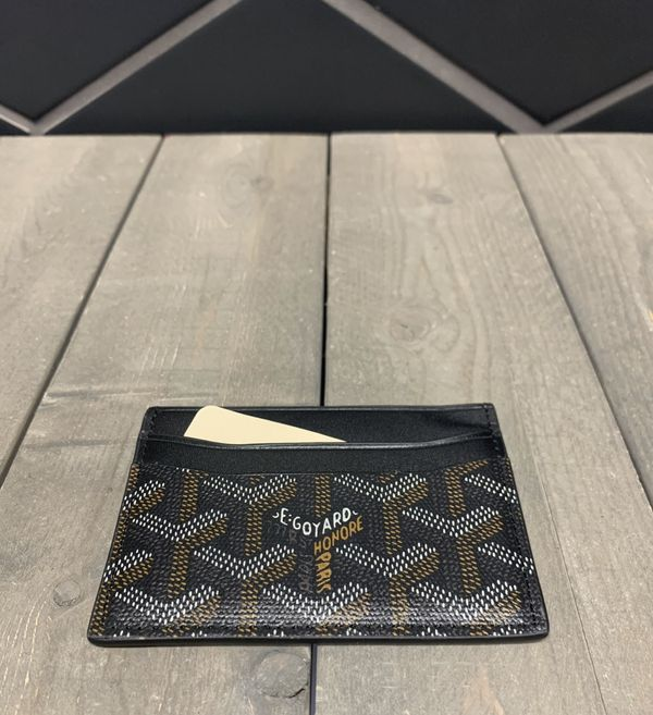 New! GoYard Black Credit Card Holder